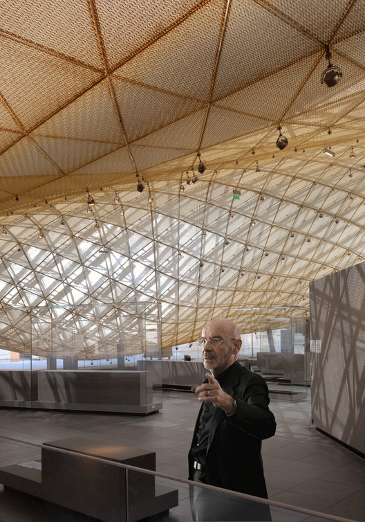 Mario Bellini visiting the Department of Islamic Arts, Louvre © courtesy Mario Bellini Architect(s)