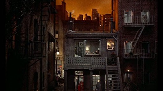 Shot from Hitchcock's film Rear Window.