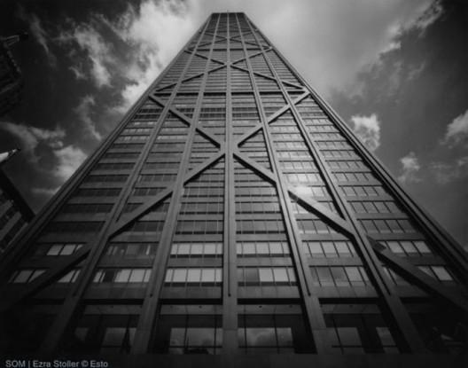 SOM's John Hancock Center in Chicago, via Ezra Stoller © Esto