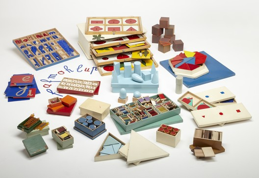 Teaching materials commissioned by Maria Montessori. 1920s.