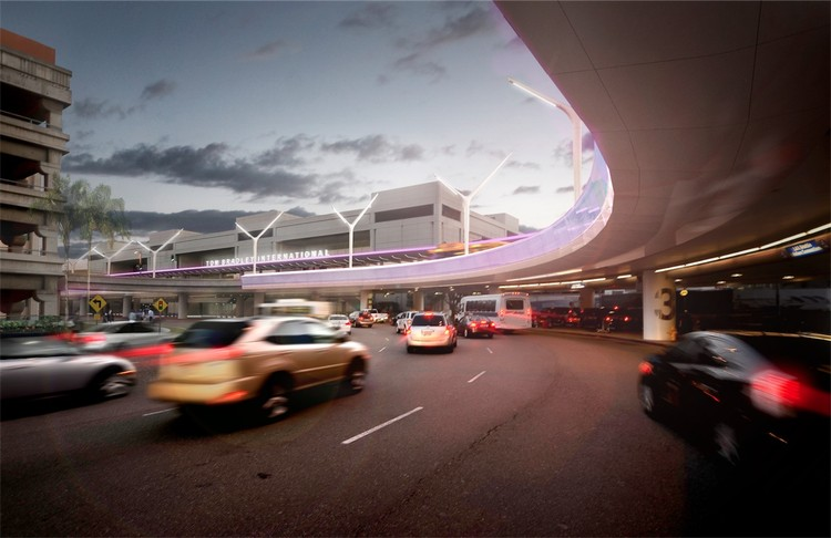 TBIT Arrival Loop at Dusk - Courtesy of AECOM