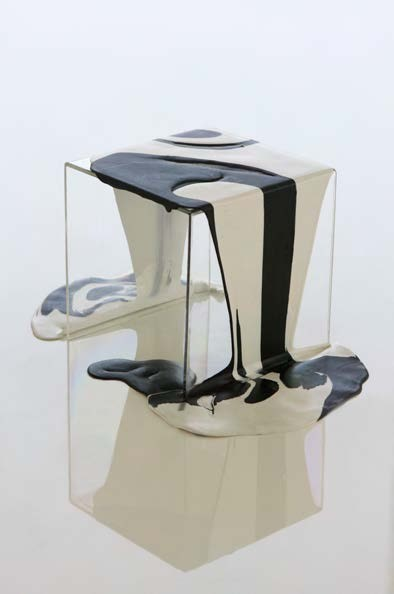 Poured resin side table by kelly behun | STUDIO after Lynda Benglis. Photo Credit: Alex P. White