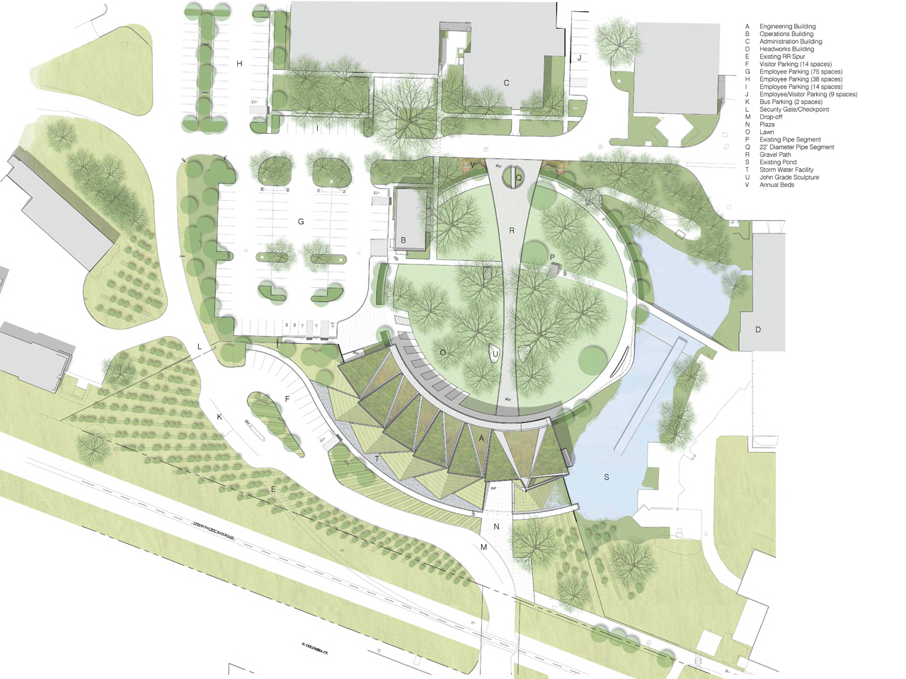 Gallery of columbia boulevard wastewater treatment support - Site plan architecture ...