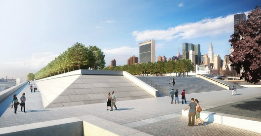 East Promenade and Monumental Stair - Credit: Franklin D. Roosevelt Four Freedoms Park, LLC