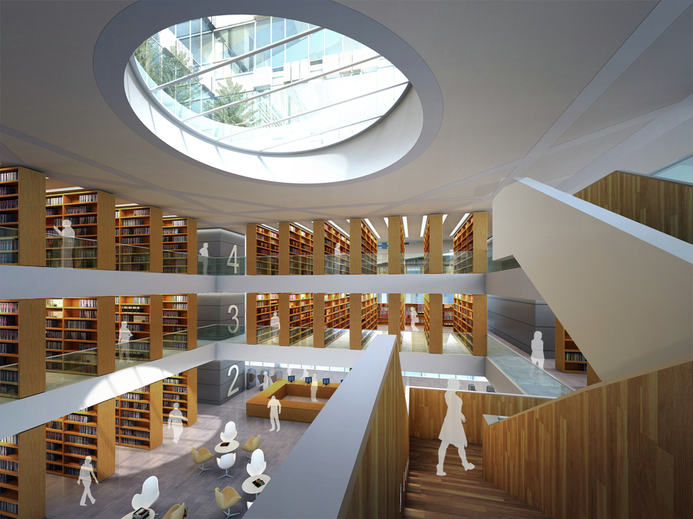 Gallery of tsinghua law library building proposal for Solid void theory architecture