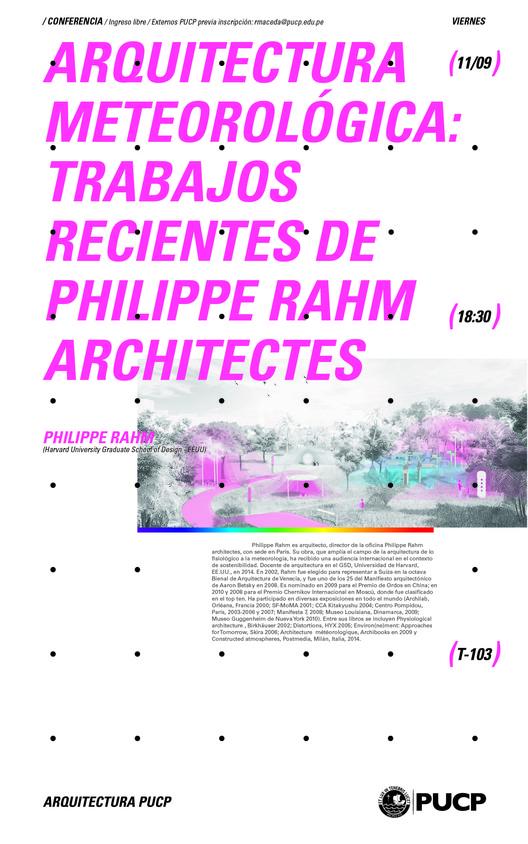 Arquitectura meteorológica: trabajos recientes de Philippe Rahm Architectes / Lima