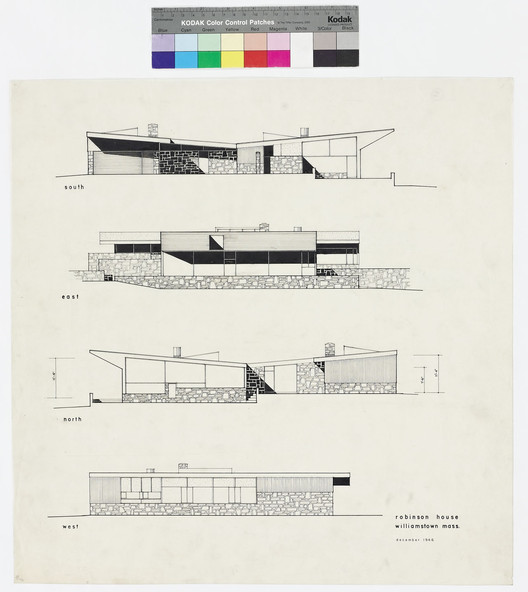 Robinson House, Presentation Drawing / Marcel Breuer