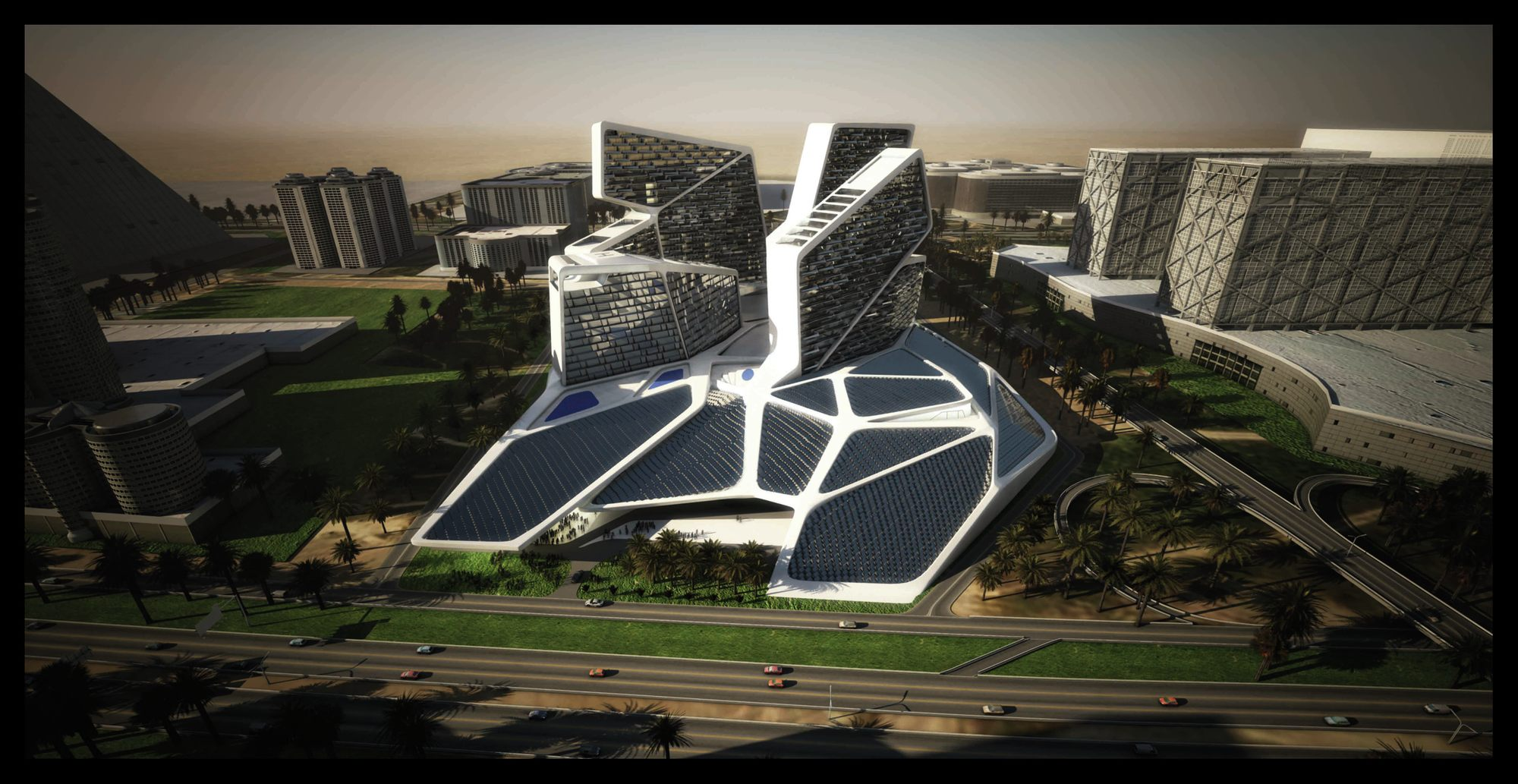 Gallery of vertical village graft architects 14 Solar architect
