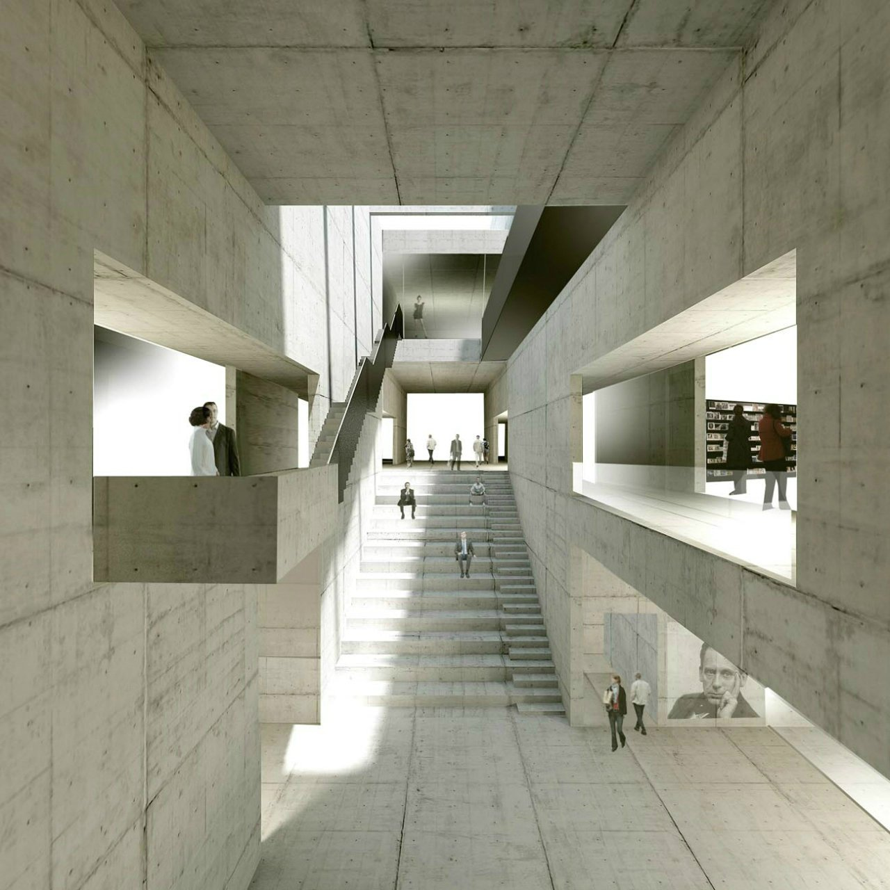 gallery of new bauhaus museum architekten hrk 2. Black Bedroom Furniture Sets. Home Design Ideas
