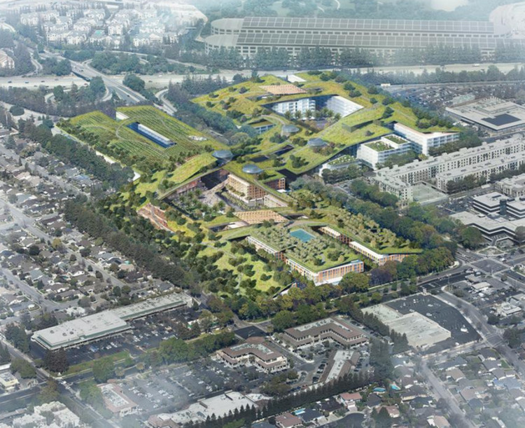 Rafael Viñoly to Add World's Largest Green Roof to Former Shopping Mall in California, © The Hills at Vallco