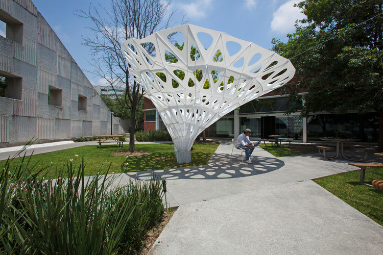 Pabellón Paramétrico DIGFABMTY2.0, proyecto experimental de estudiantes mexicanos, © Alejandro Rodríguez