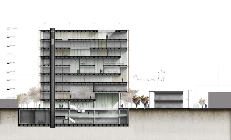 Corte/sección. Image Cortesía de López Montoya Arquitectos