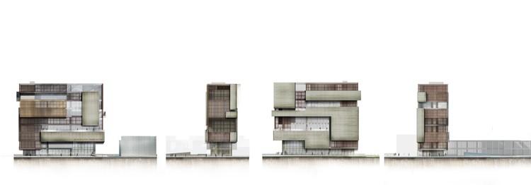 Elevaciones/fachadas. Image Cortesía de López Montoya Arquitectos