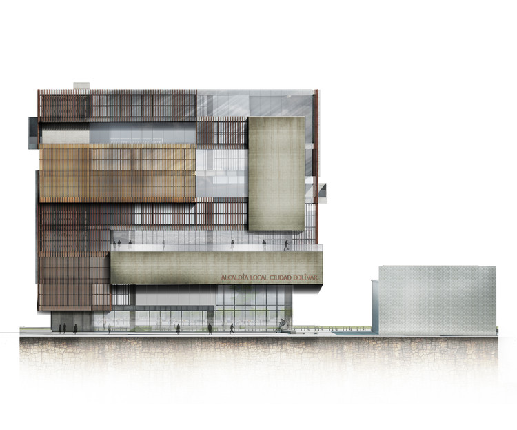 Elevación/Fachada principal. Image Cortesía de López Montoya Arquitectos