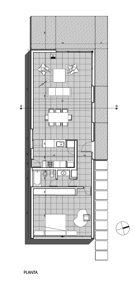 House pro cre ar 01 fram arquitectos archdaily for Aho construction floor plans