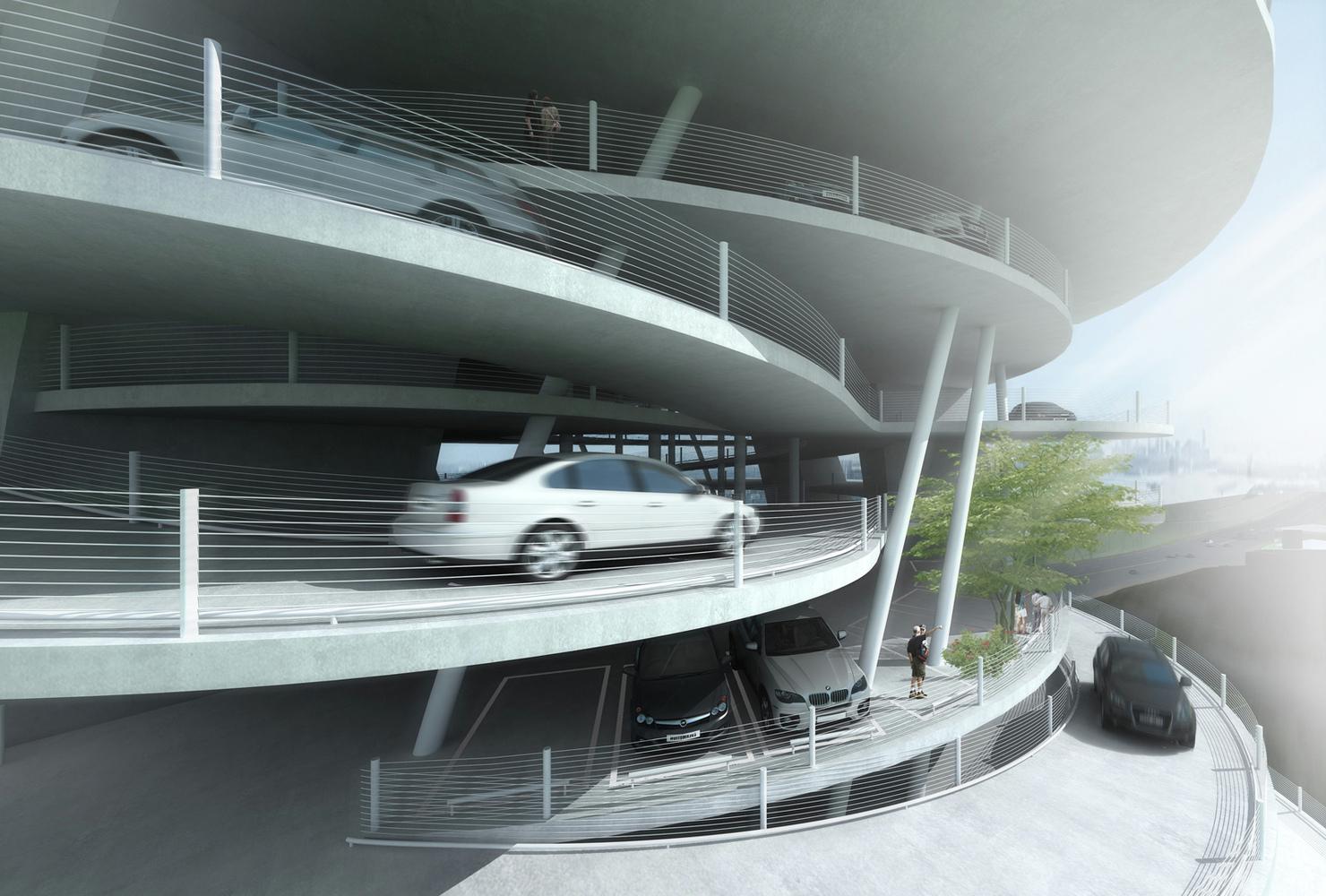 Design of car parking - Alternative Car Park Tower Proposal Mozhao Studio Parking Space