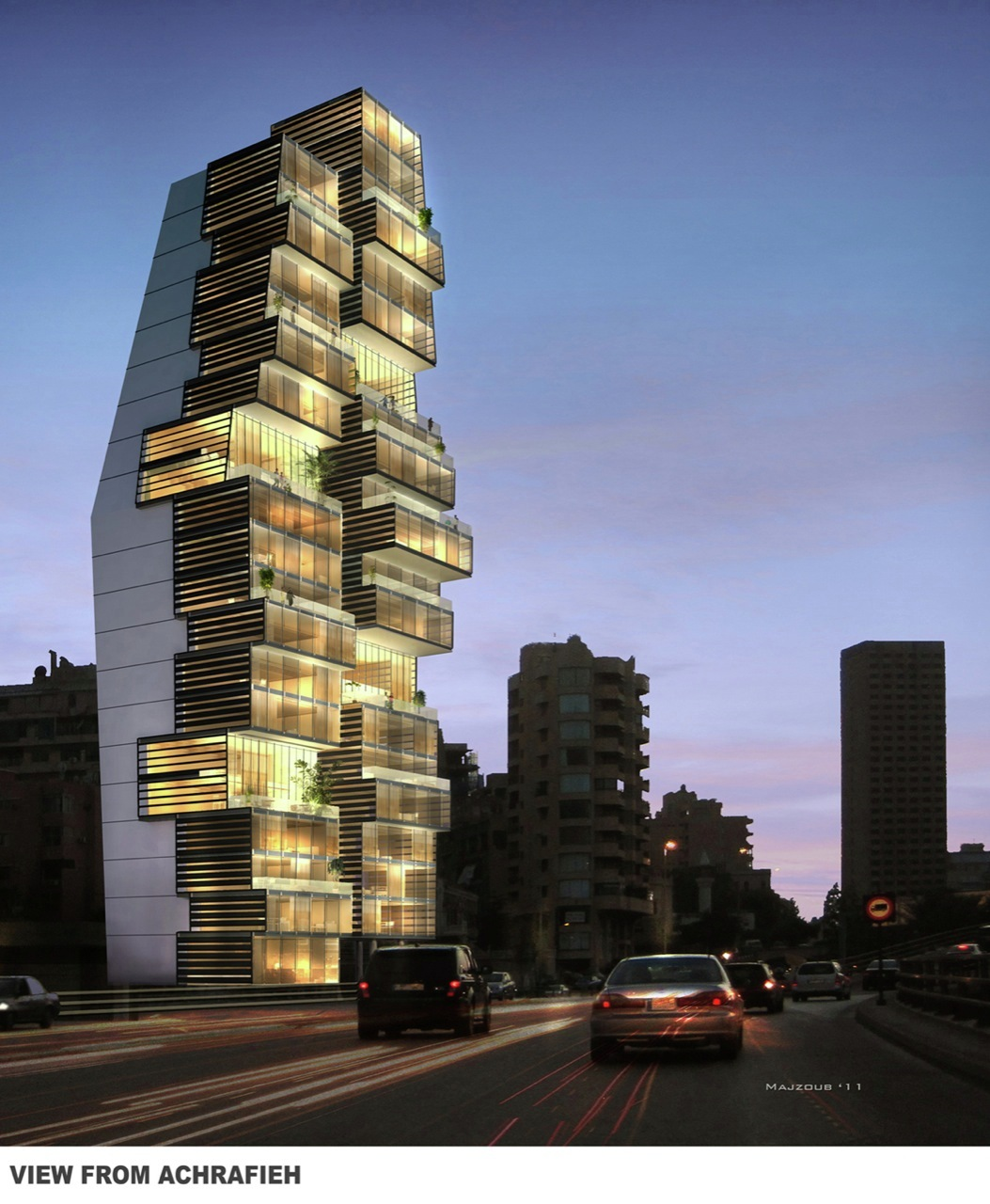 Gallery of beirut residential building accent design for Residential building designer