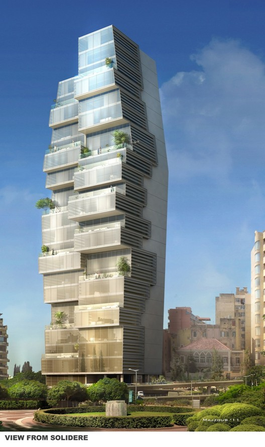 Beirut residential building accent design group archdaily for Office design hamra