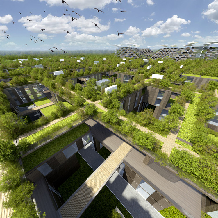 Skolkovo residential area arch group archdaily for Roof garden milano