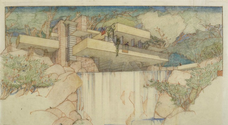 "Frank Lloyd Wright, Edgar J. Kaufmann House, ""Fallingwater,"" Mill Run, Pennsylvania, 1934-37 © 1936 Frank Lloyd Wright Foundation, Scottsdale, Arizona"
