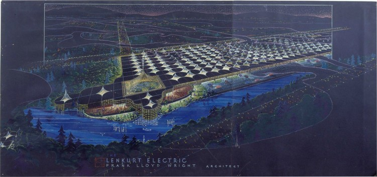 Frank Lloyd Wright. Lenkurt Electric Company, San Carlos, CA, 1955 © 2010 Frank Lloyd Wright Foundation, Scottsdale, Arizona