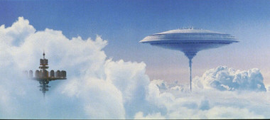 """10. CLOUD CITY, BESPIN. The simple and elegant 16-kilometre wide Cloud City sits high above the planet Bespin. Proprietor Lando Calrissian oversees a well-appointed luxury resort district on its upper levels, complete with hotels and casinos. Echoes of the saucer-shaped structure can be seen on Earth in <a href=""""http://www.architectsjournal.co.uk/attachments.aspx?js=yes&height=auto&width=572&storycode=1996063&attype=P&atcode=279533"""" >John Lautner's Chemosphere House</a>."""