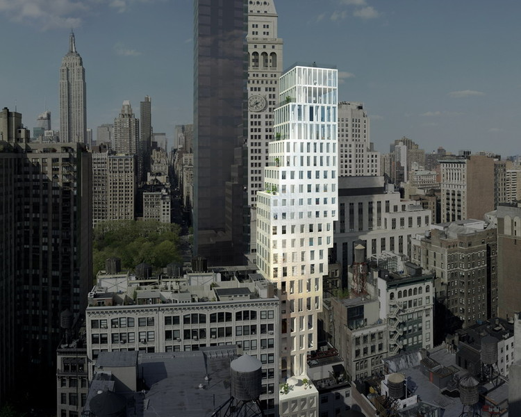 Oma unveils new images for their new york residential Modern residential towers