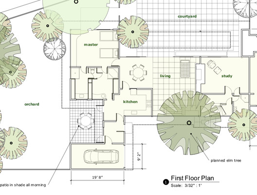 Site Plan dimensioned in LayOut 2.1