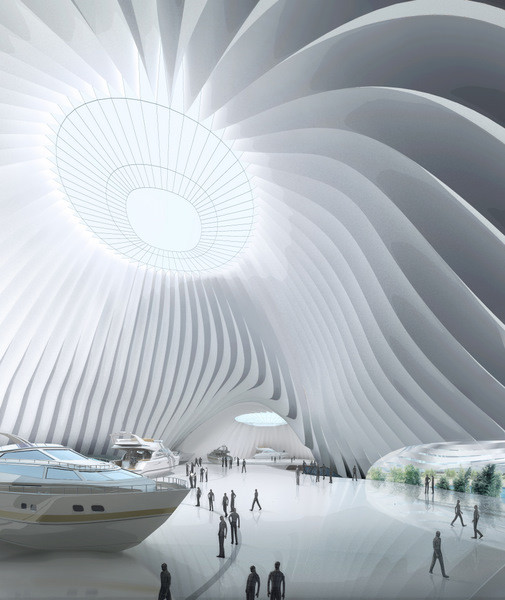 Taichung convention center mad architects archdaily for Architecture high tech