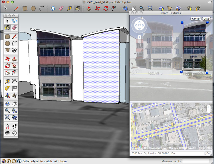 Photo Texture window in SketchUp 7.1 on a Mac