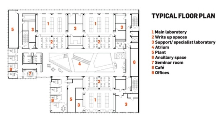 Biochemistry center hawkins brown archdaily for Floor plans brown university
