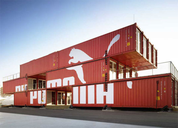 Puma city shipping container store lot ek archdaily Immeuble container