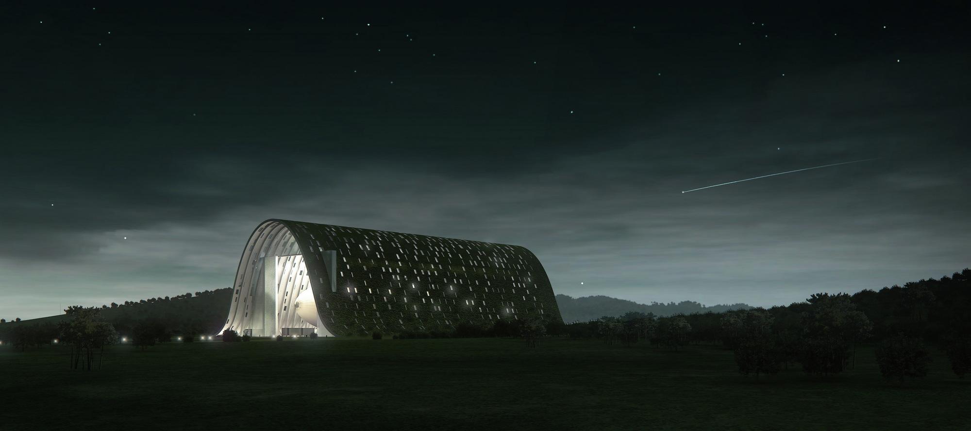 Gallery of up lift zeppelin hangar open architecture 6 for Architecture hangar