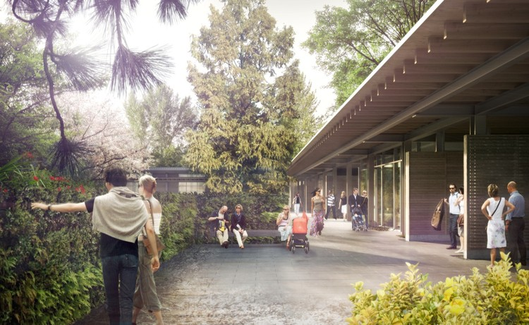 Rendering of the new Visitor Center at Bellevue Botanical Garden © Olson Kundig Architects