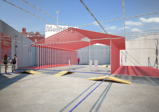 Perspective view of Ghost House © IJP Corporation Architects