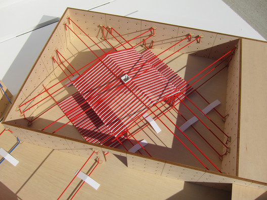 Detailed view Ghost House (model) © IJP Corporation Architects