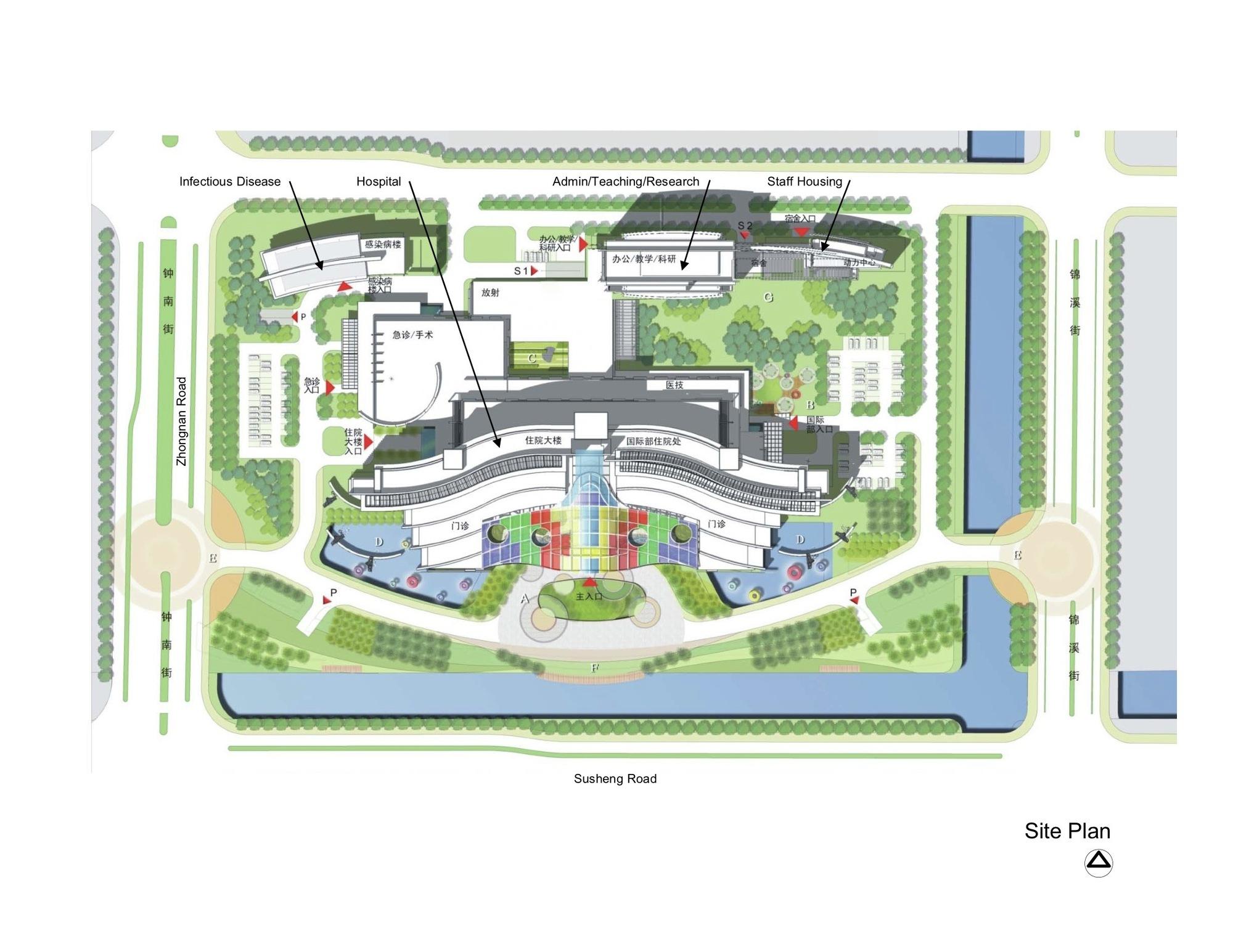 Admin Building Floor Plan Gallery Of Suzhou Children S Hospital Hks 3