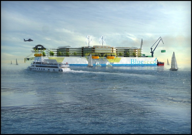 One of the concept vessels for Blueseed, The Blueseed Hive 2.