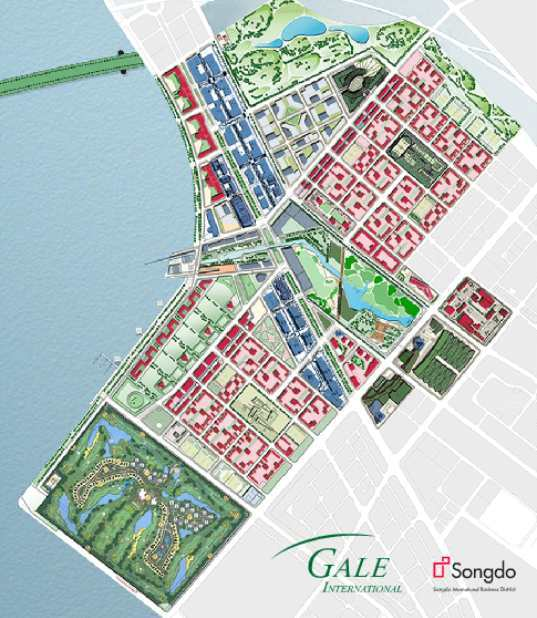 Green Start Web Page Site Map: Songdo IBD / Kohn Pedersen Fox