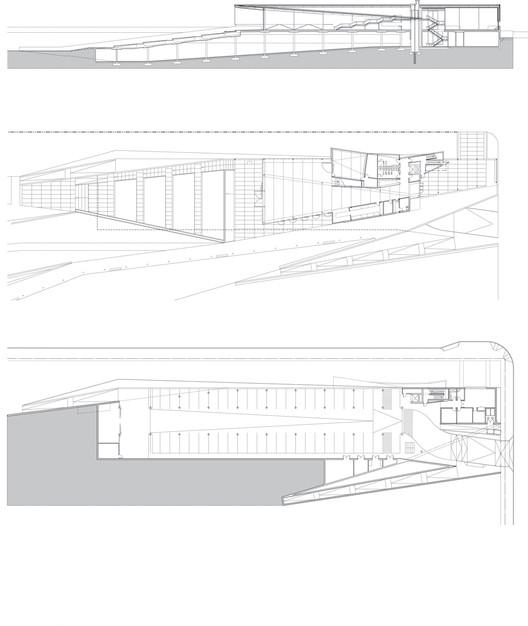 pavilion section + plan