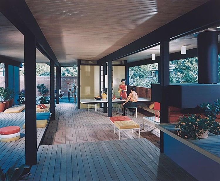 Recreation Pavilion, Mirman Residence, 1959 Arcadia, CA / Buff, Straub and Hensman, architects   © Julius Shulman