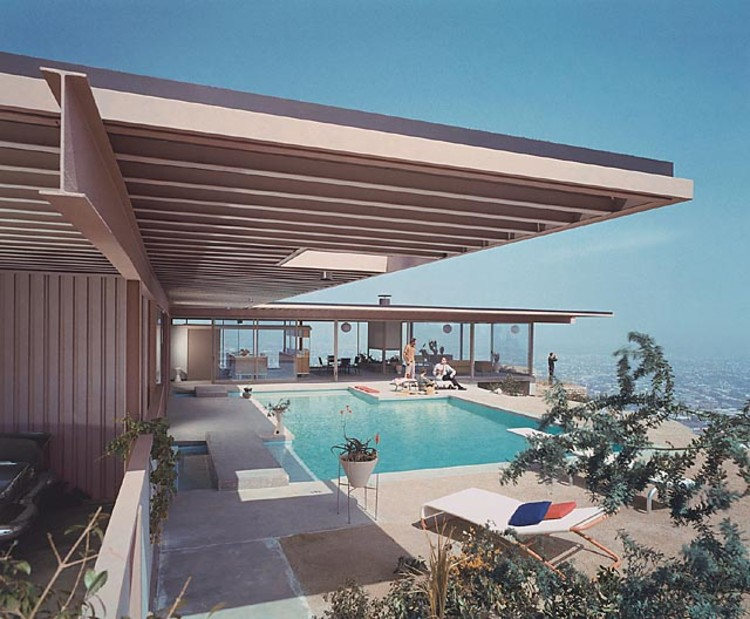 Case Study House #22, (daytime pool), 1960 Los Angeles, CA / Pierre Koenig, architect   © Julius Shulman