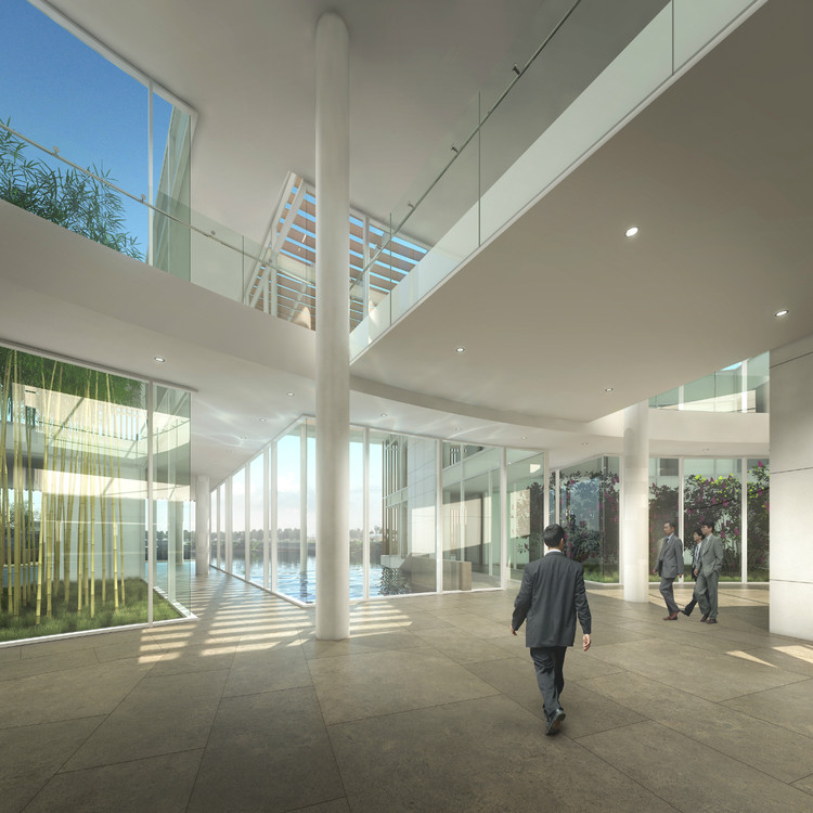 Lobby © Richard Meier & Partners Architects LLP