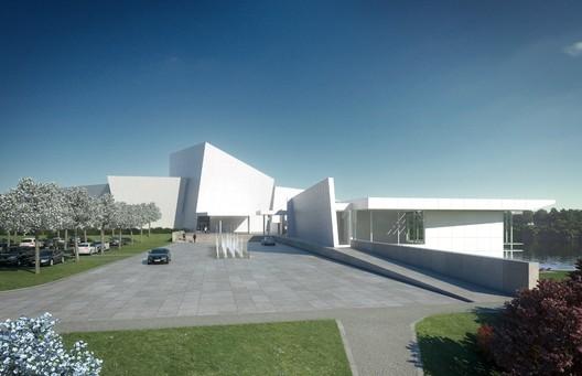 Entry Plaza © Richard Meier & Partners Architects LLP