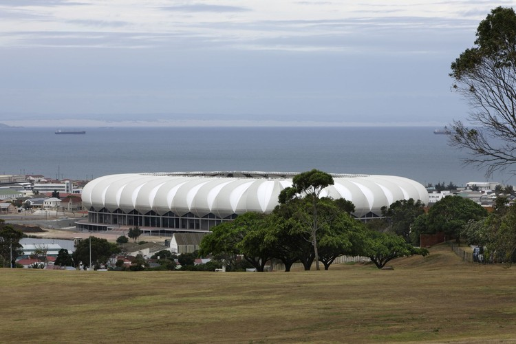 Nelson Mandela Bay Stadium outside, © Marcus Bredt