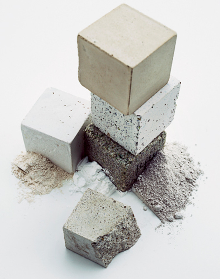 Novacem's Carbon Negative Cement won Material ConneXion's second annual MEDIUM Award. Photography from Material ConneXion