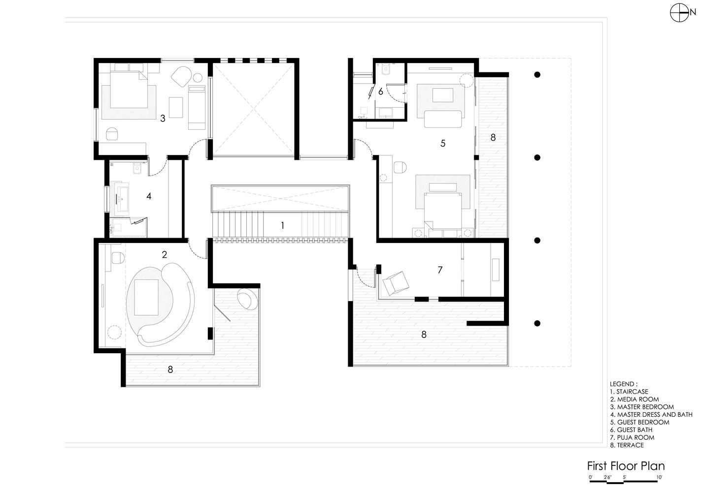 gallery of courtyard house abin design studio 20 courtyard house first floor plan