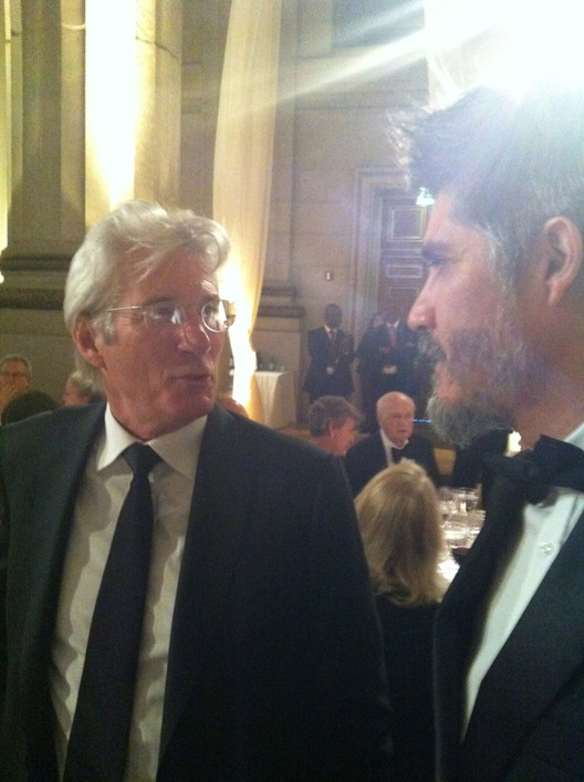 Richard Gere and Alejandro Aravena, photo by Giovana Franceschetto