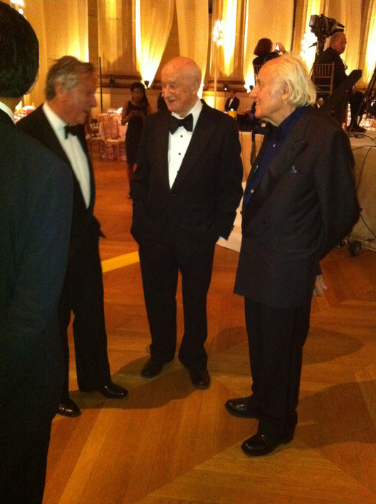 Rafael Moneo, Kevin Roche and Hans Hollein, photo by Giovana Franceschetto