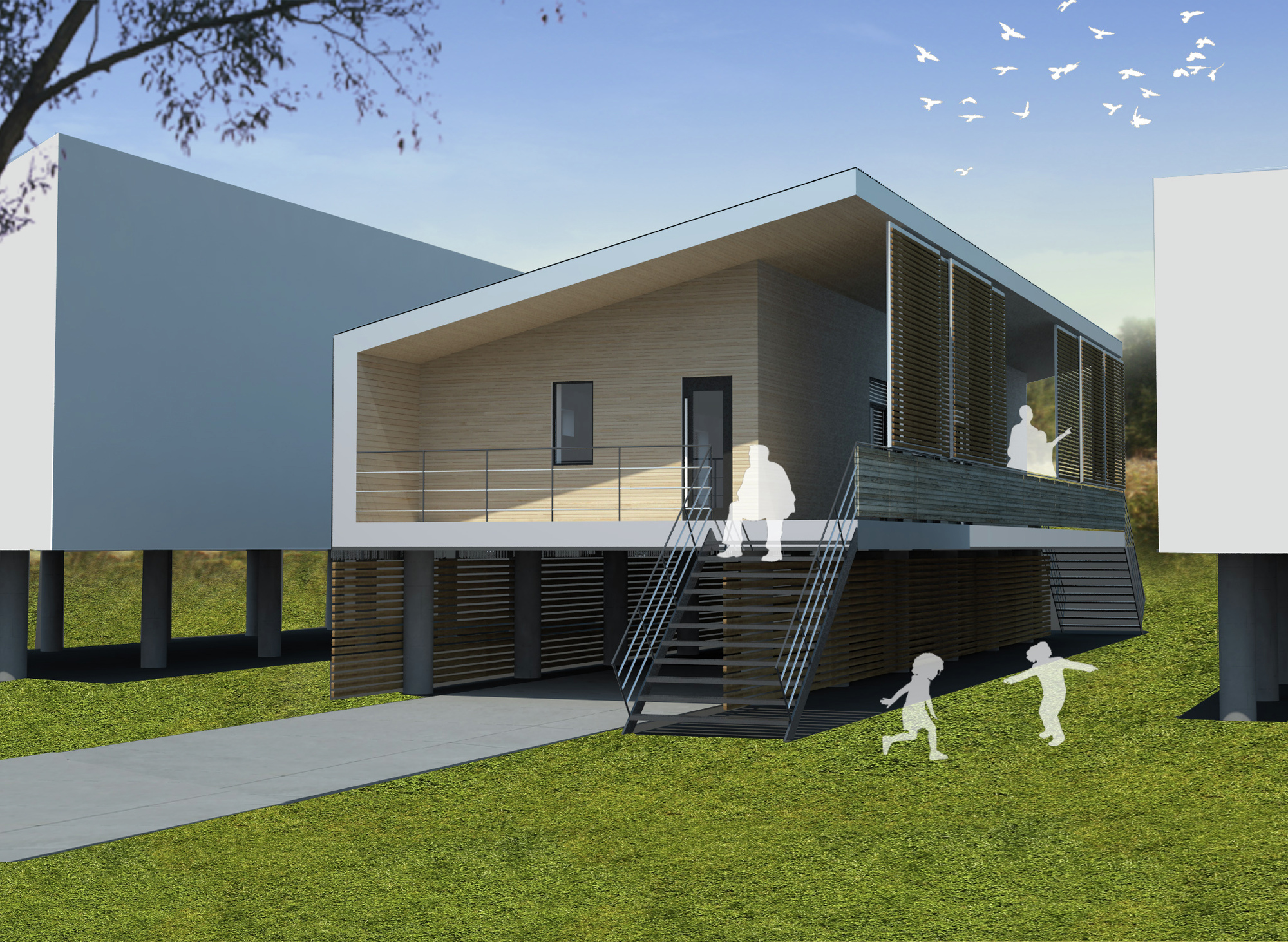 Gallery of low cost low energy house for new orleans for Energy house